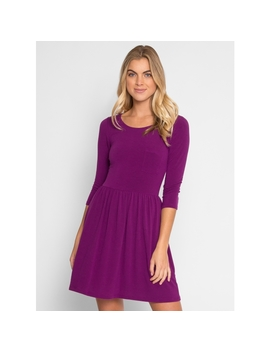 Jam Fit And Flare Knit Dress by Wet Seal