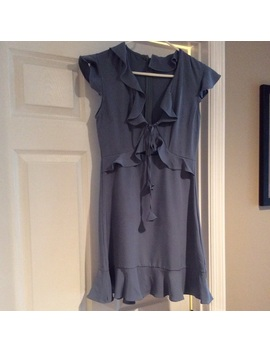 Low Cut Ruffle Dress by She And Sky
