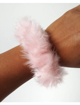 Small Baby Pink Fun Fur Fluffy Scrunchie by Etsy