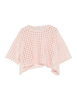 Cropped Laser Cut Jersey Top by T By Alexander Wang