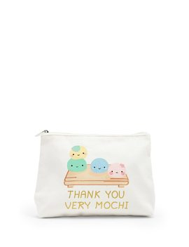 Thank You Very Mochi Glitter Graphic Pouch by Forever 21