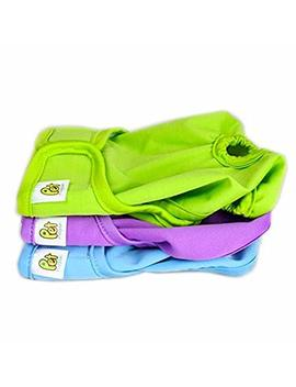 Pet Magasin Reusable Dog Diapers (3 Pack)   Durable Dog Wrap Nappies With Luxury Look & Fashionable Design For Both Male And Female Dogs, Cats, Rabbits & Small Animals (Solid, Extra Small) by Pet Magasin
