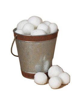 36 Pack White Plush Indoor Snowballs Holiday Christmas Decoration by Gerson