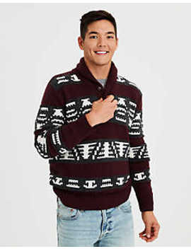 Ae Pattern Popover Shawl Sweater by American Eagle Outfitters