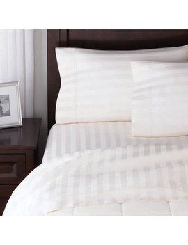 Better Homes And Gardens 300 Thread Count Wrinkle Free Damask Stripe Sheet Set by Better Homes & Gardens