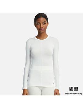 Women Aw Heattech Crew Neck Long Sleeve T Shirt by Uniqlo