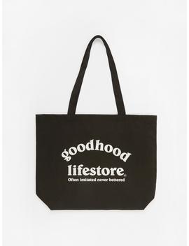 Lifestore Tote Bag   Black by Goods By Goodhood