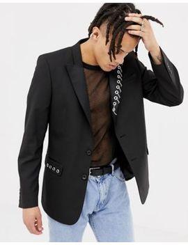 Asos Design Slim Blazer With Chain Detail by Asos Design
