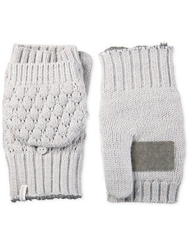 Isotoner Women's Flip Top Mittens With Palm Patch by Isotoner Signature