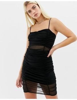 Collusion Ruched Mesh Cami Dress by Collusion