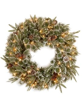 """24"""" Liberty Pine Wreath With Clear Lights by National Tree"""