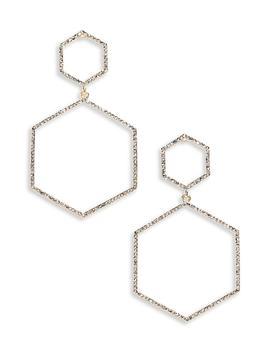Crystal Hexagon Earrings by Panacea