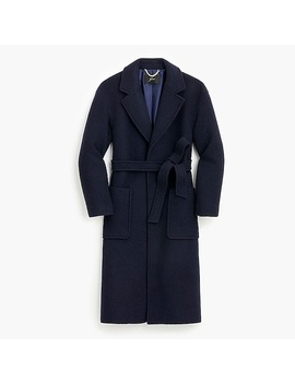 Petite Long Wrap Coat In Italian Boiled Wool by J.Crew