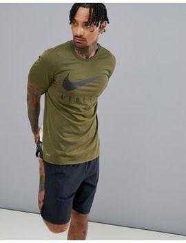 Nike Training Athlete T Shirt In Khaki 739420 395 by Nike