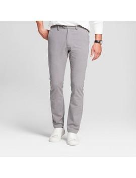 Men's Slim Fit Patterned Lightweight Trouser   Goodfellow & Co™ Gray Herringbone by Goodfellow & Co