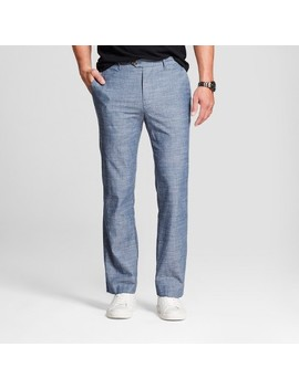 Men's Printed Straight Fit Lightweight Trouser   Goodfellow & Co™ Blue Chambray by Goodfellow & Co