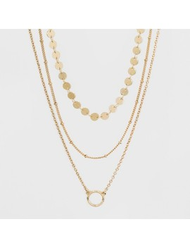 Sugarfix By Bauble Bar Coin Bead Layered Necklace Gift Set   Gold by Sugar Fix By Bauble Bar
