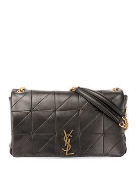 jamie-monogram-ysl-giant-full-flap-chain-shoulder-bag by saint-laurent
