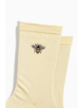Embroidered Bee Sock by Urban Outfitters