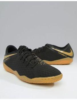 Nike Football Hypervenom Phantomx 3 Indoor Trainers In Black Aj3814 090 by Nike