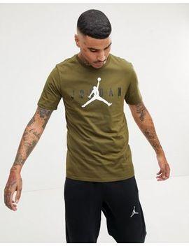 Nike Jordan Air Logo T Shirt In Green Aa1907 395 by Jordan