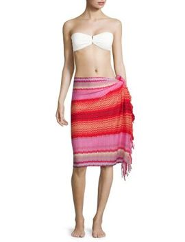 Chevron Fringed Cotton Pareo by Missoni