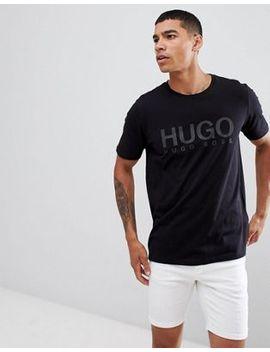 Hugo Dolive U Large Logo T Shirt In Black by Hugo