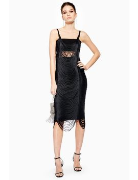 Fringe Bodycon Dress by Topshop