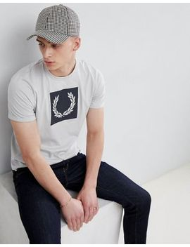 Fred Perry Laurel Wreath Print T Shirt In Grey by Fred Perry