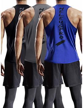 Neleus Men's 3 Pack Dry Fit Y Back Muscle Tank Top by Neleus