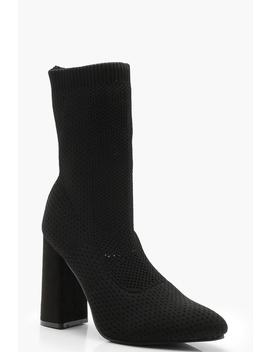 Knitted Sock Boots by Boohoo