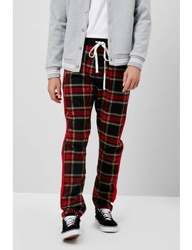 Plaid Zip Ankle Pants by Forever 21