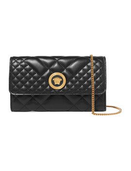 Quilted Leather Shoulder Bag by Versace