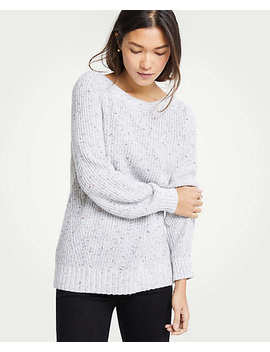 Marled Boatneck Sweater by Ann Taylor