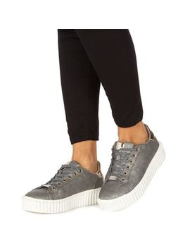 Faith   Silver 'karter' Trainers by Faith