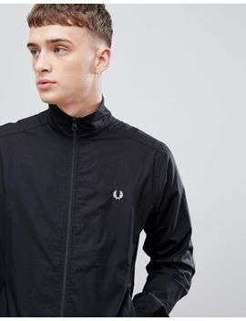 Fred Perry Woven Zip Through Jacket In Black by Fred Perry