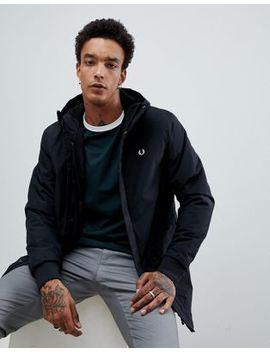 Fred Perry Stockport Hooded Parka Jacket In Black by Fred Perry