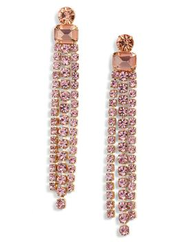 Slice Of Stone Crystal Fringe Earrings by Kate Spade New York