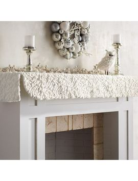 White Fuzzy Mantel Scarf by Pier1 Imports