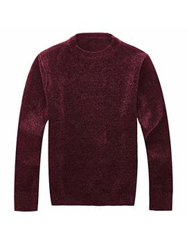 Vcansion Men's Soft Cozy Chenille Pullover Sweater by Vcansion