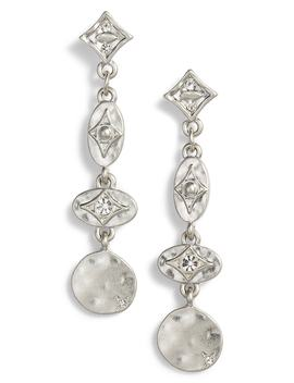 Motif Disc Drop Earrings by Treasure & Bond