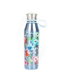 The Pioneer Woman® 18oz Double Wall Vacuum Insulated Blue Stainless Steel Water Bottle by The Pioneer Woman