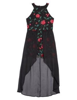 Floral Embroidered Maxi Romper by Trixxi