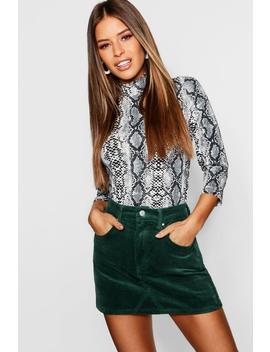 Petite Cord Mini Skirt by Boohoo