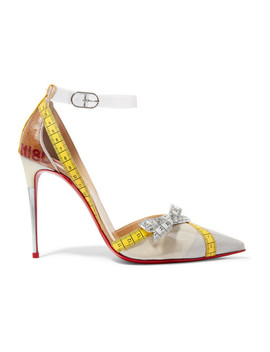 Metripump 100 Tape Trimmed Patent Leather And Pvc Pumps by Christian Louboutin
