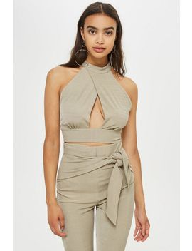 **Ribbed Crossover Top By Love by Topshop
