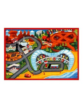 "Disney® Cars® Lightning Mc Queen® 3 2'7""X3'8"" Game Rug by Cars"