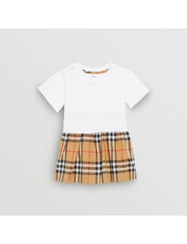 Vintage Check Cotton Dress With Bloomers by Burberry