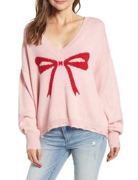 Clement Intarsia Bow Sweater by Wildfox