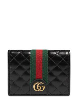 Quilted Leather Card Case by Gucci